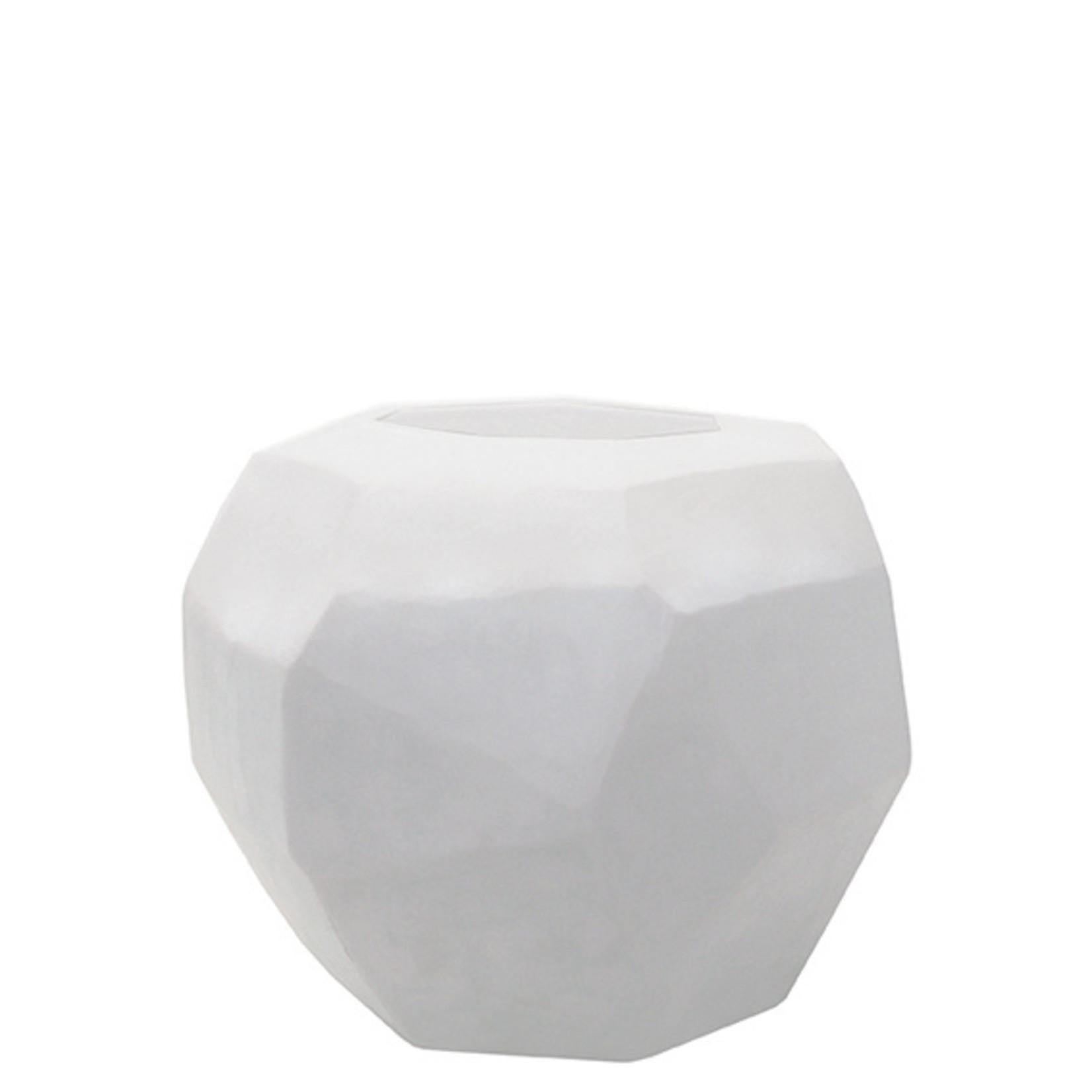Guaxs Vase Cubistic Round   Opal