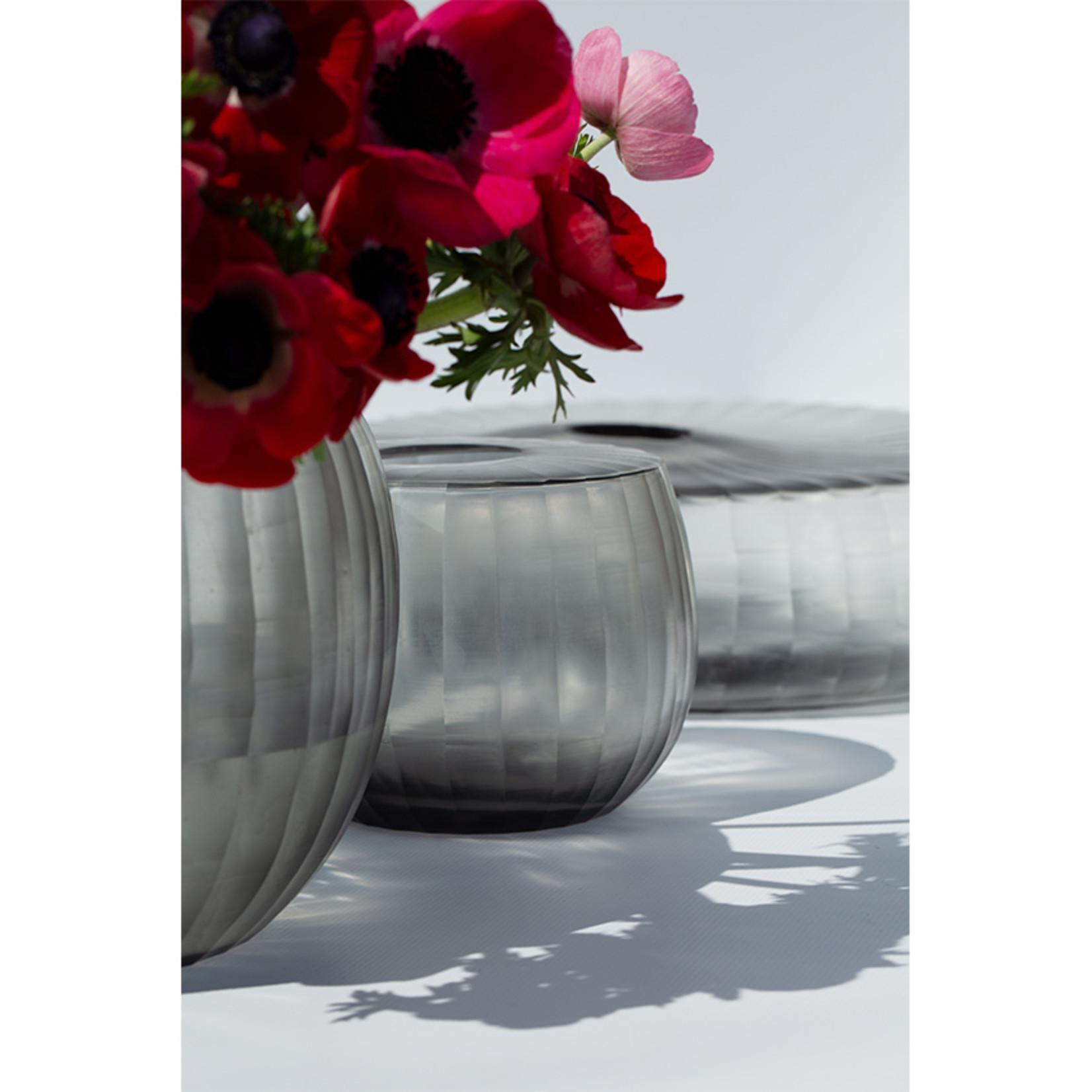 Guaxs Vase Madras Plat | Gris