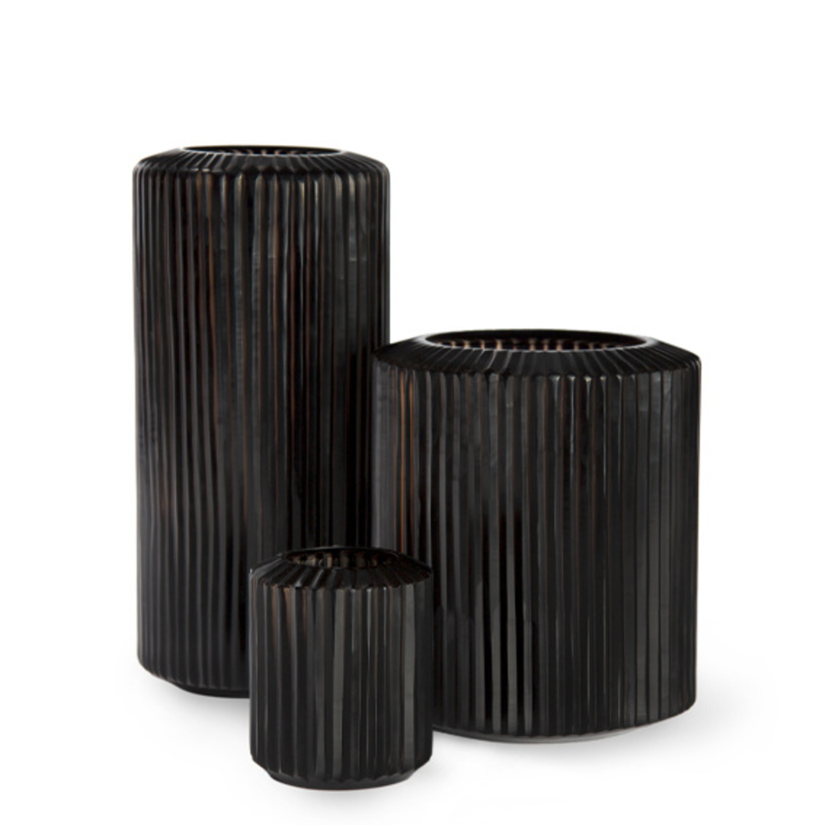 Guaxs Vase Omar L   Gris Fumée / Noir