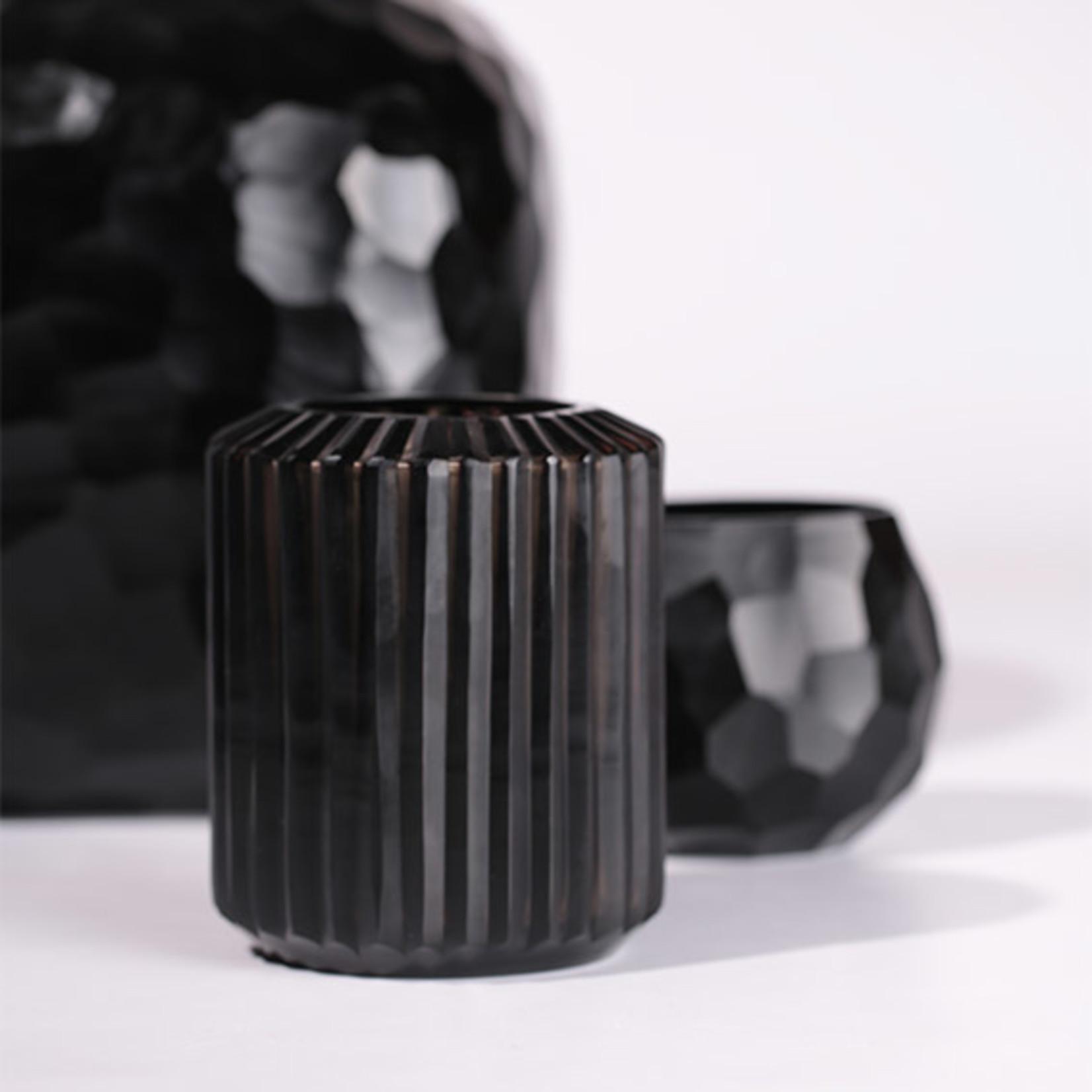 Guaxs Vase Omar S   Smoke Gray / Black