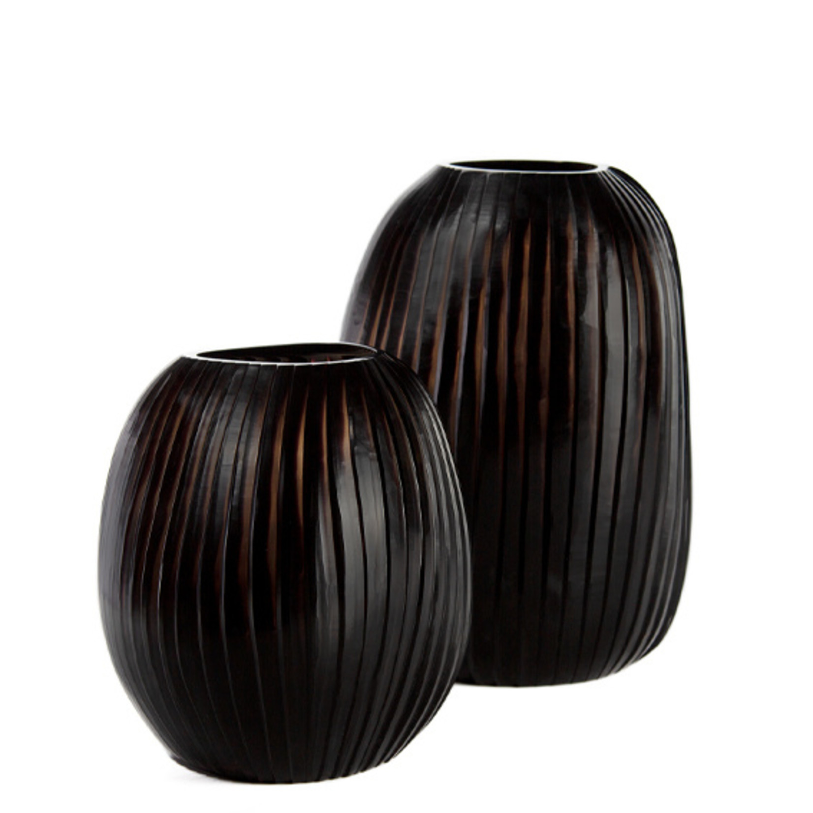 Guaxs Vase Patara Tall | Smoke Gray / Black