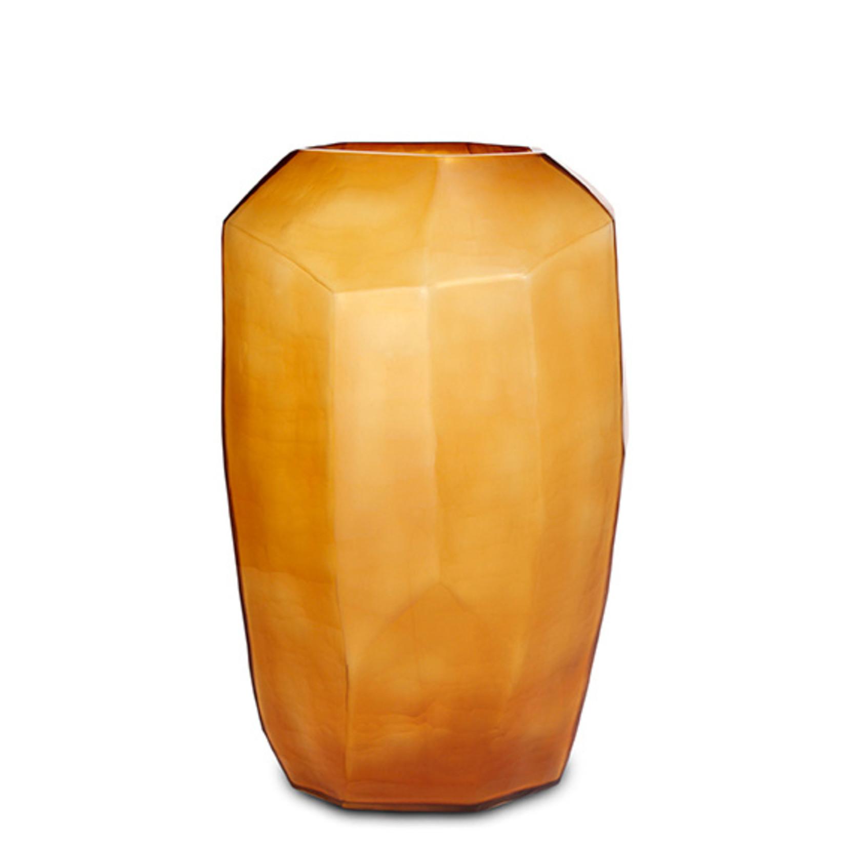 Guaxs Vaas Cubistic Tall   Clear / Gold