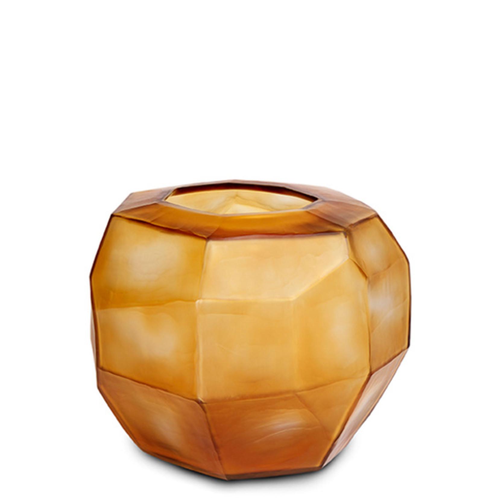 Guaxs Vase Cubistic Round | Clear / Gold