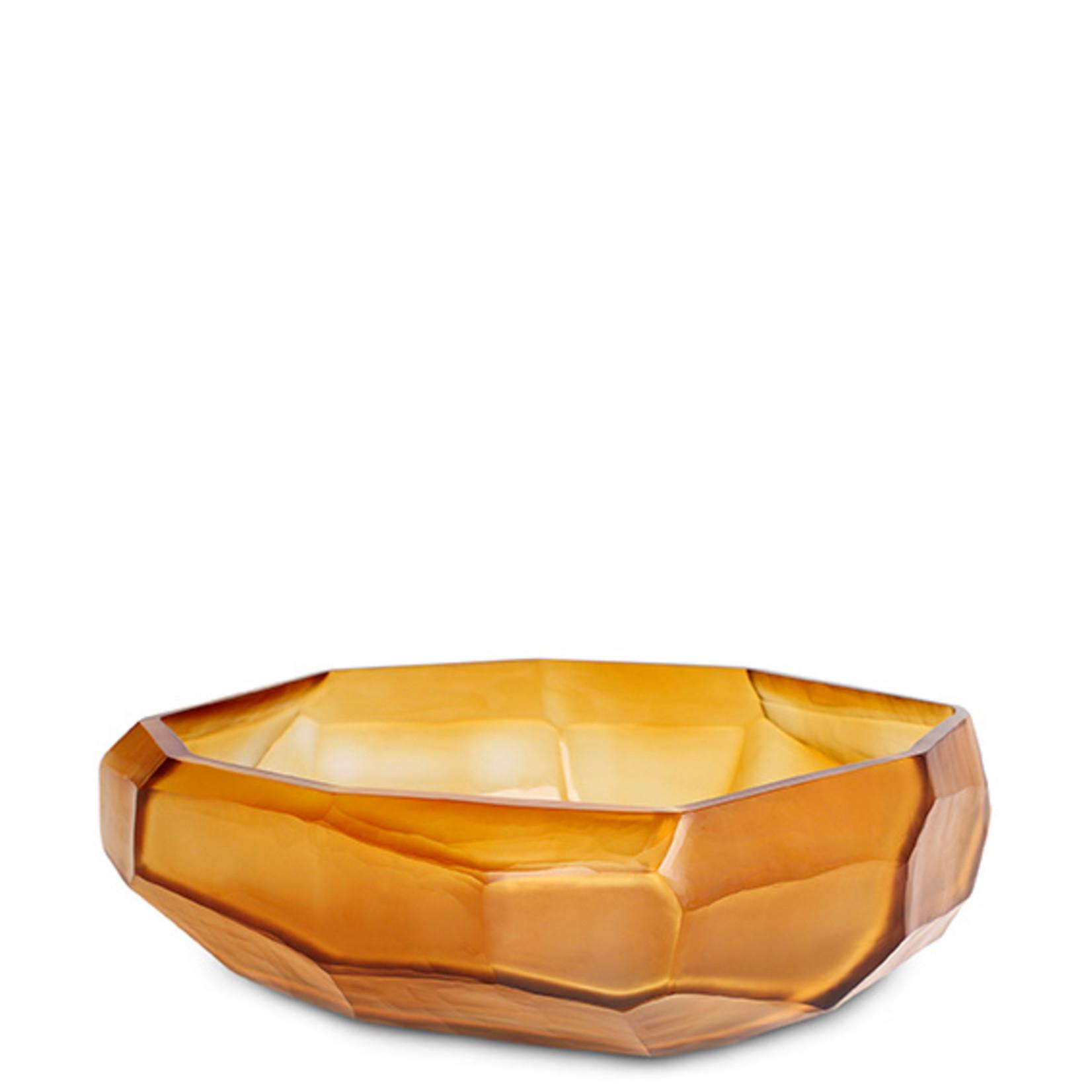 Guaxs Bowl Cubistic   Clear / Gold