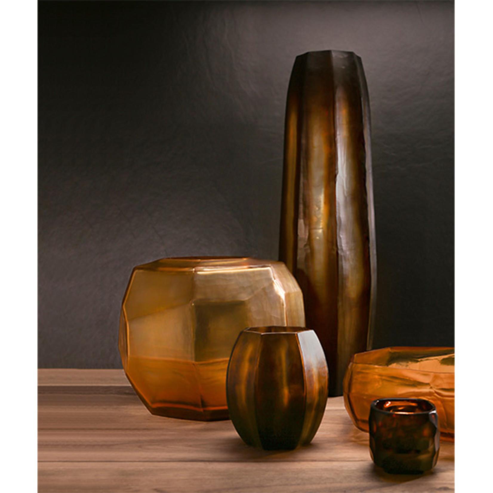 Guaxs Vase Koonam Tall | Butter / Brown