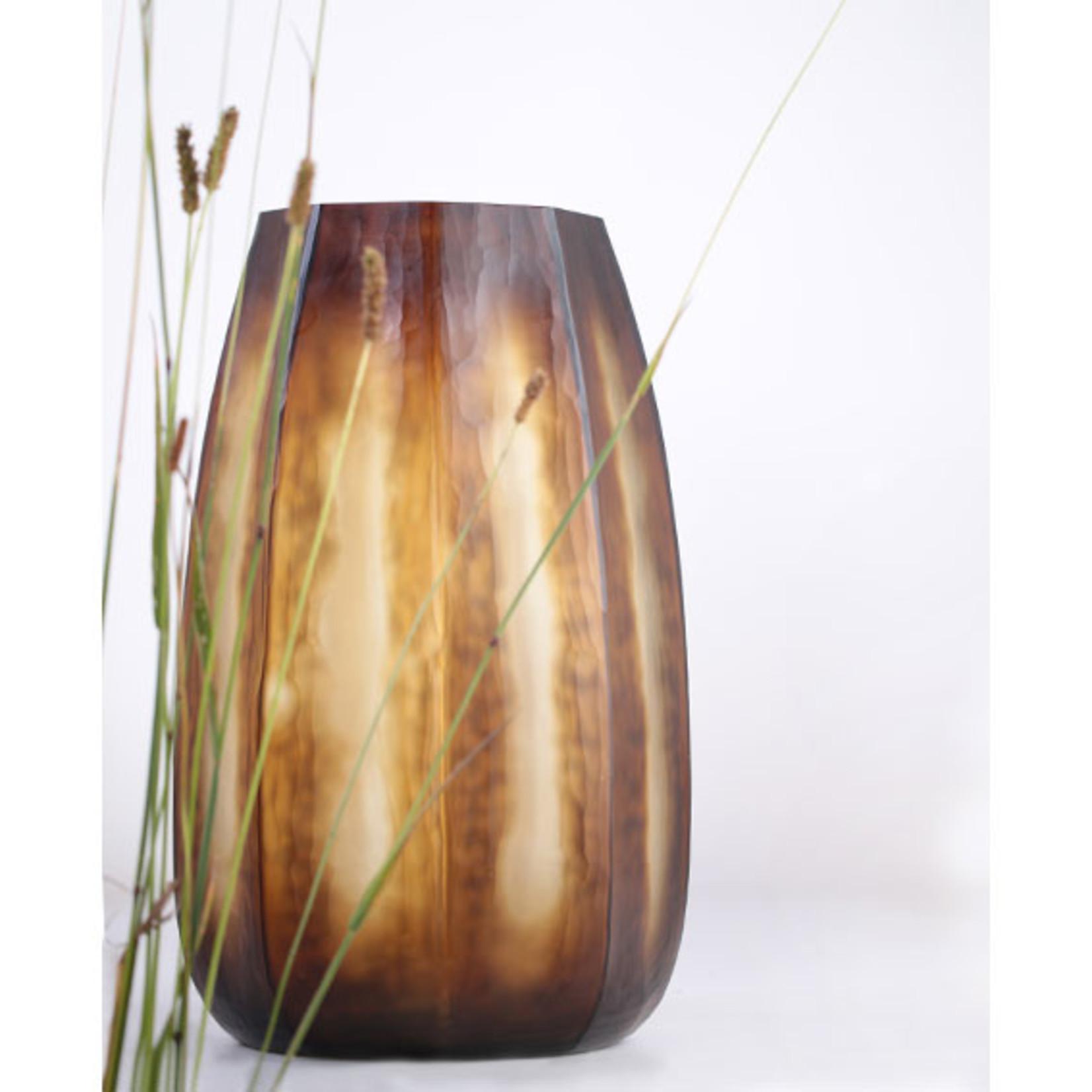 Guaxs Vase Koonam XL   Butter / Brown