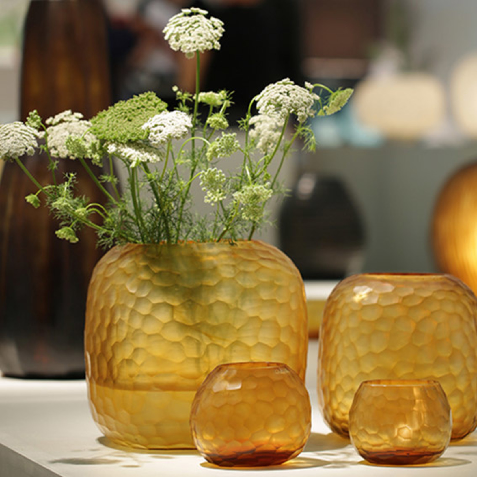 Guaxs Vase Somba M | Clear / Gold