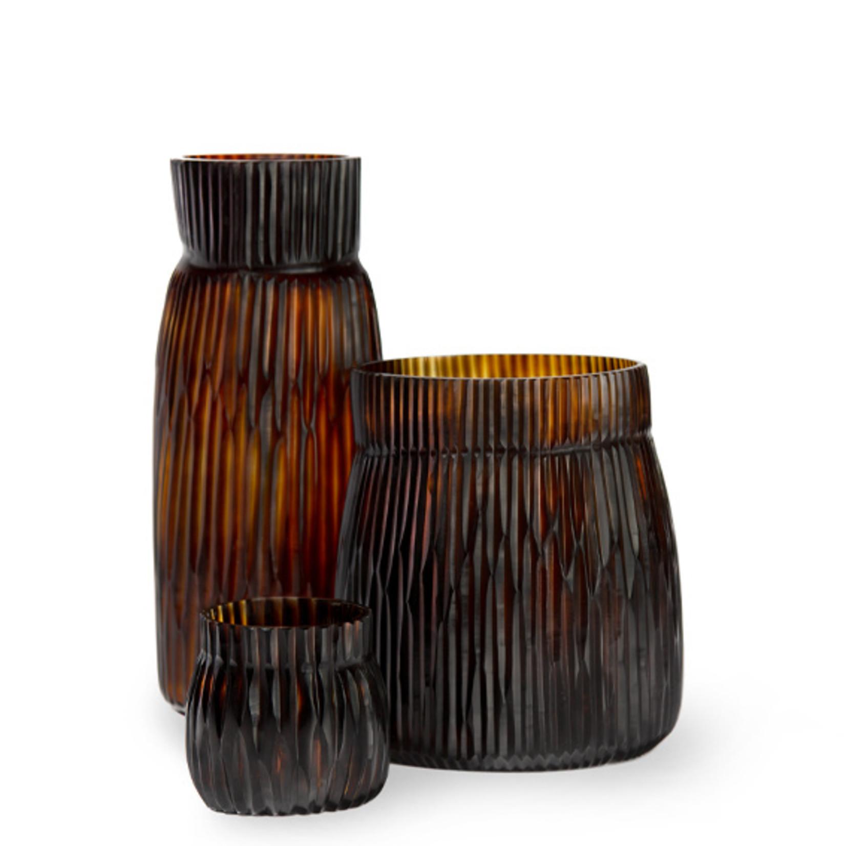 Guaxs Vase Mathura Tall | Butter / Brown
