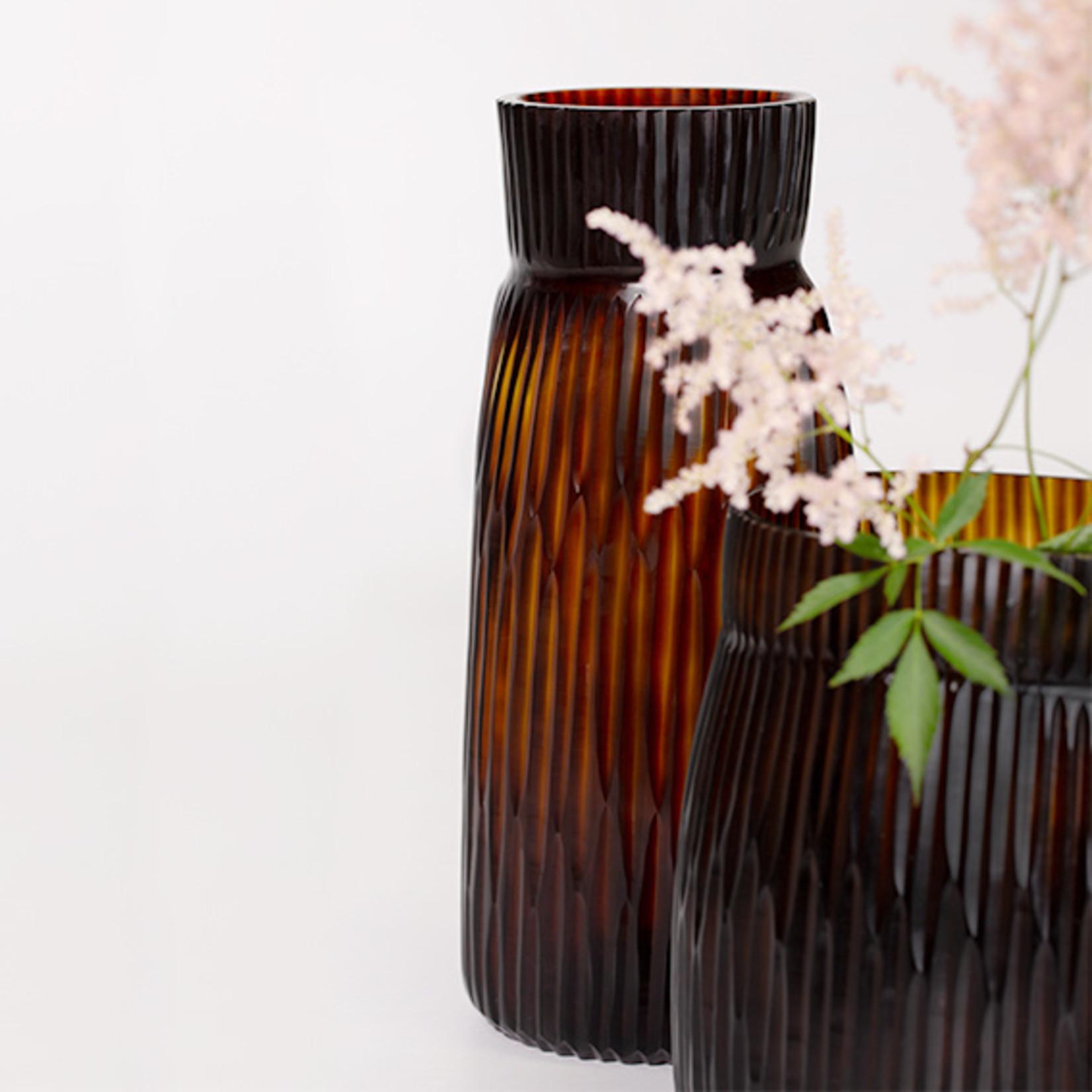 Guaxs Vase Mathura Grand   Beurre / Marron