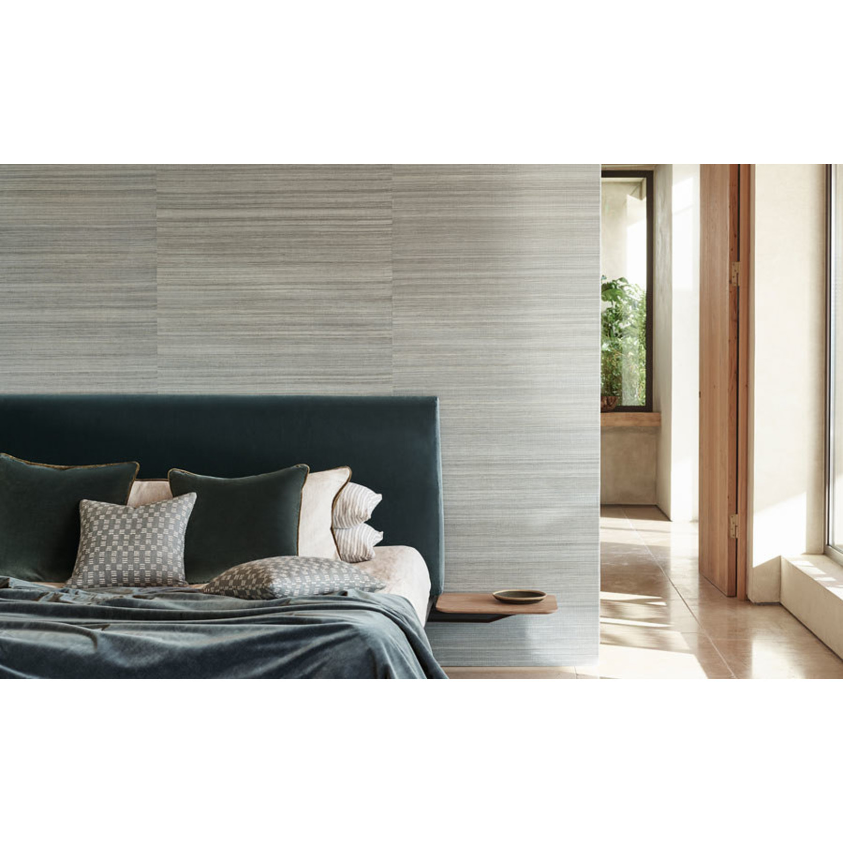 Mark Alexander Grasscloth Handwoven Wallcoverings | Duo Sisal Anthracite
