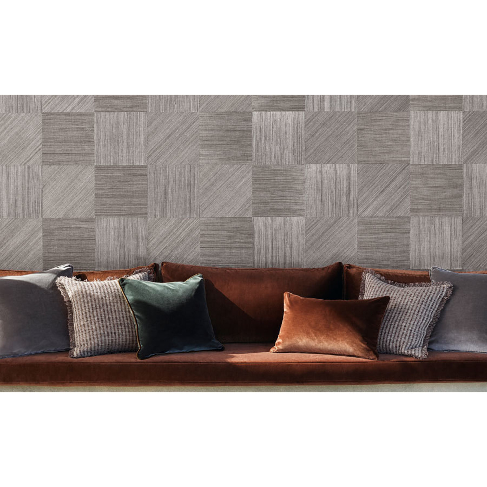 Mark Alexander Collage Handcrafted Wallcoverings | Square Cut Silver