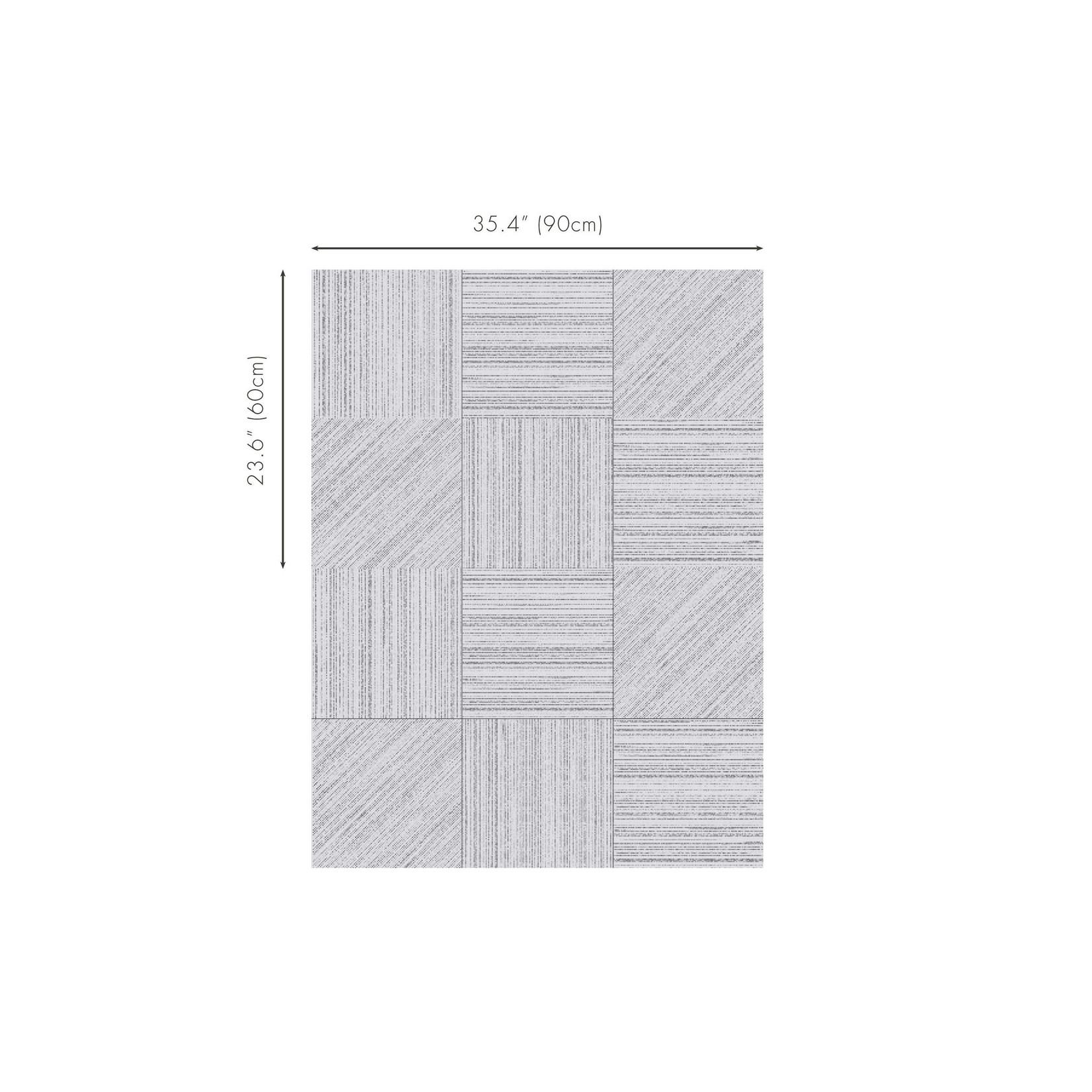 Mark Alexander Collage de revêtements muraux fabriqués à la main | Parchemin carré