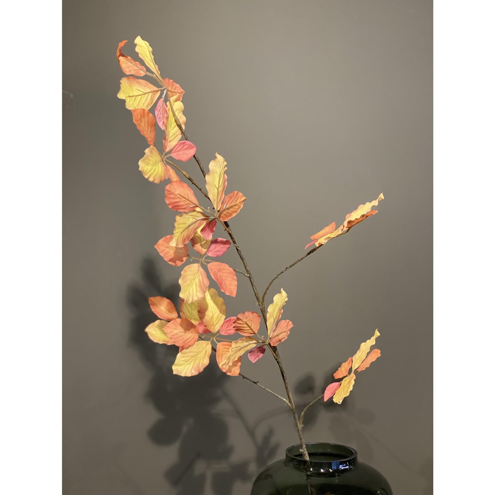 Silk-ka Feuille Branche Jaune / Marron | 114cm