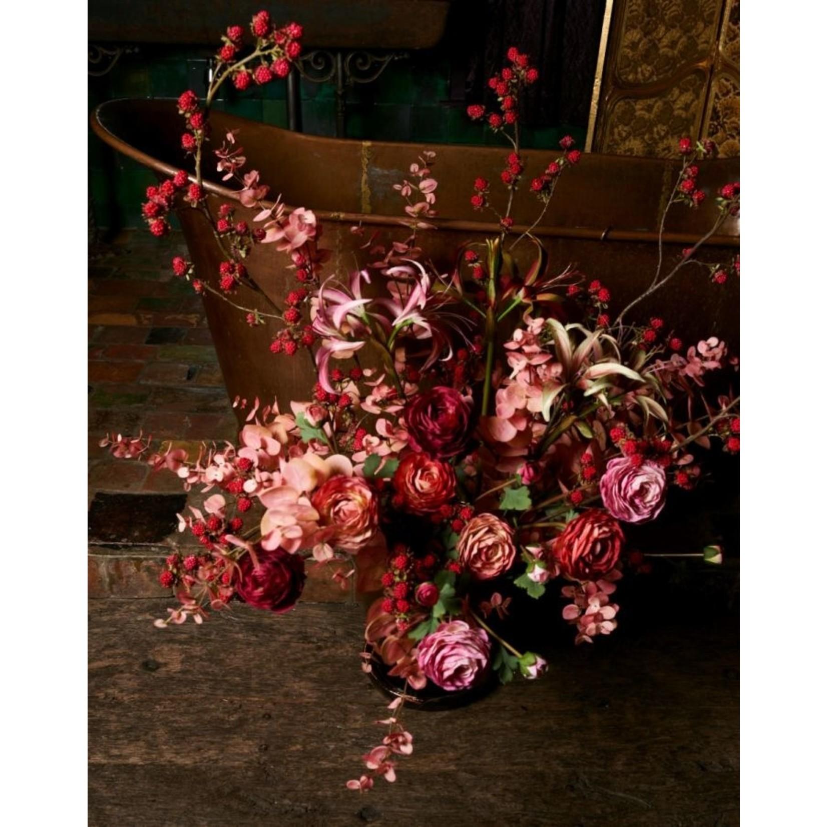 Silk-ka Eucalyptus Branch Pink / Brown | 105 cm