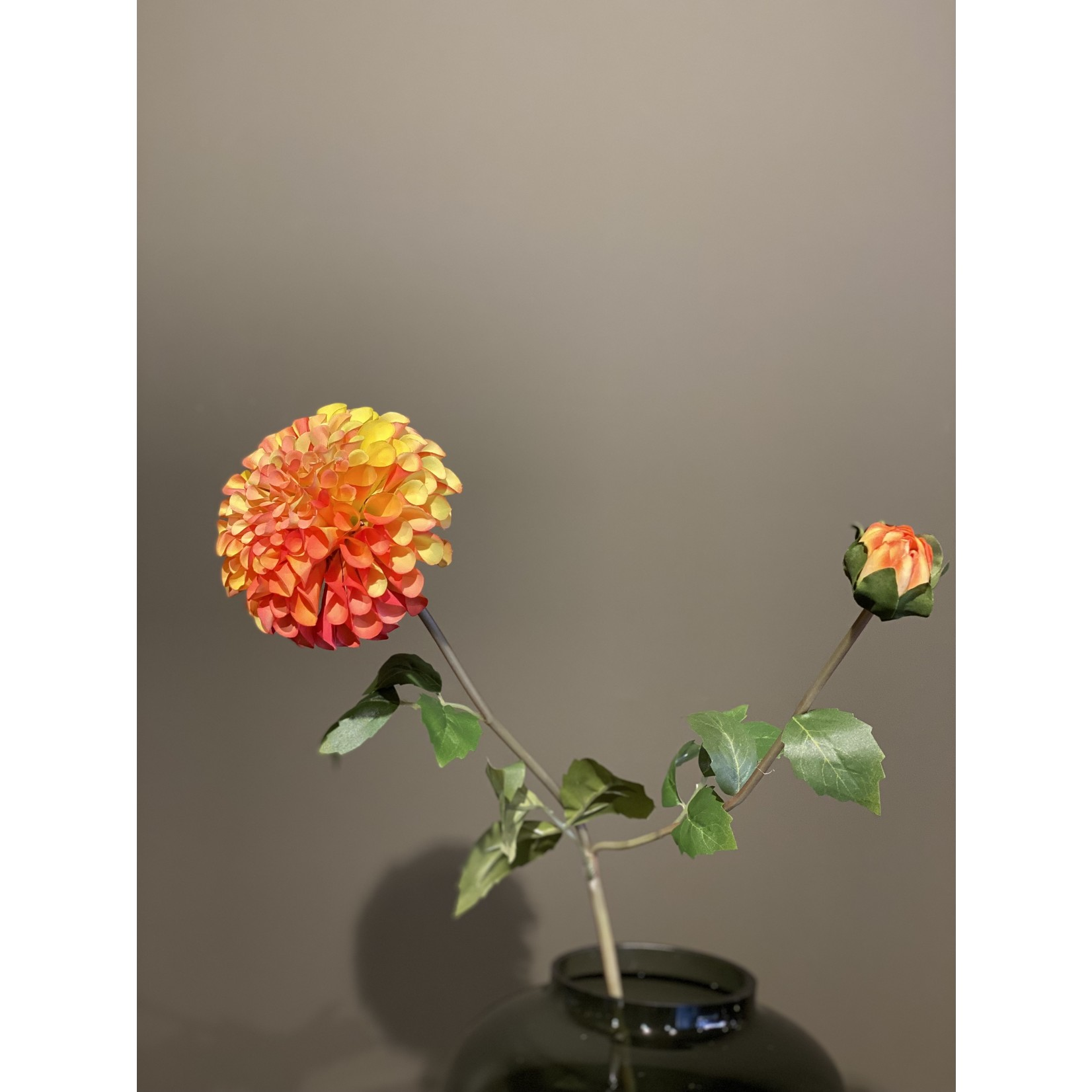 Silk-ka Dahlia Jaune / Rouge | 80cm