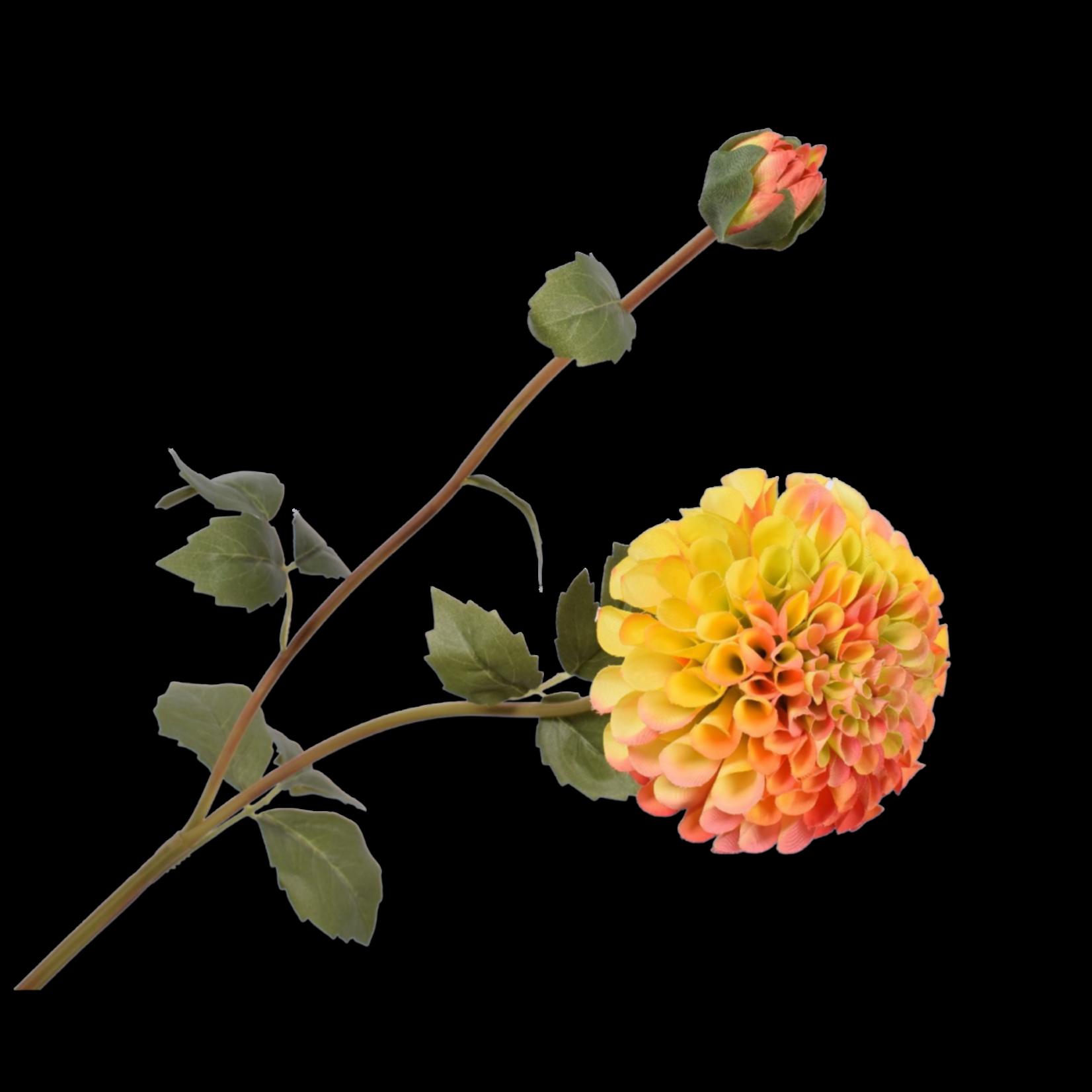 Silk-ka Dahlia Yellow / Red | 80 cm