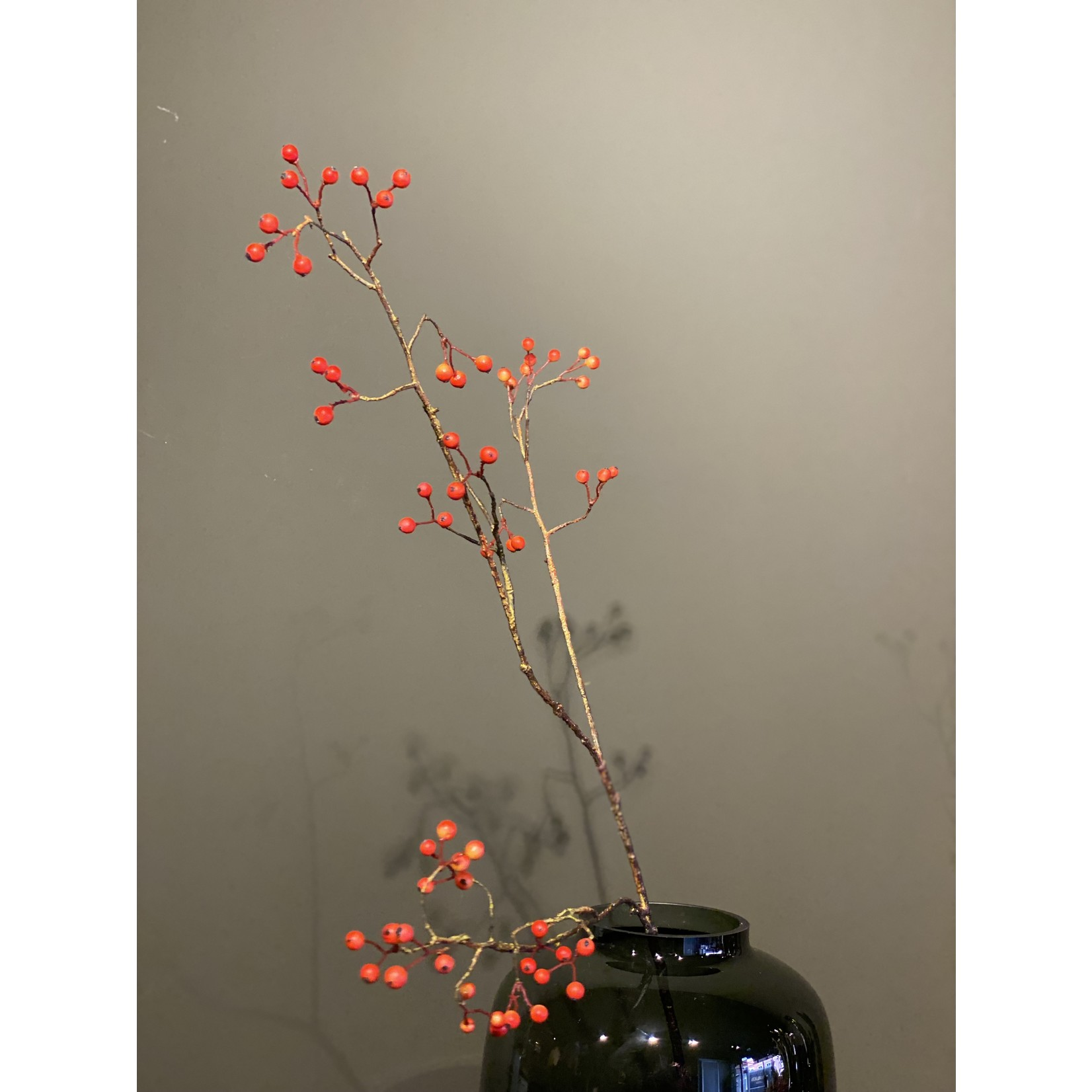 Silk-ka Berry branch Orange   94 cm