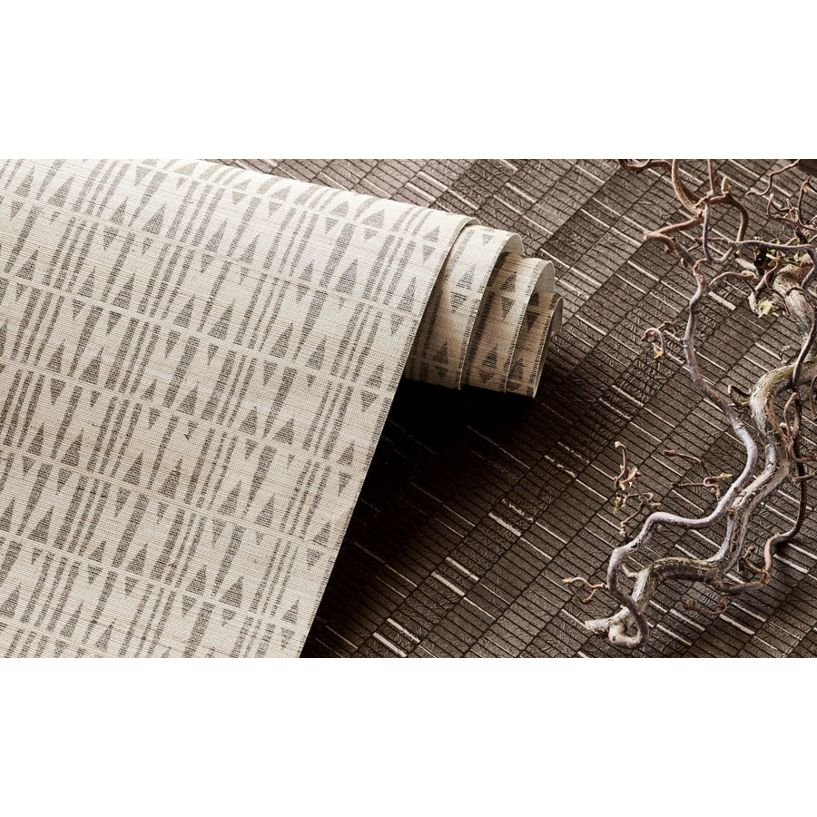 Mark Alexander Collage de revêtements muraux fabriqués à la main | Anagramme Châtaigne