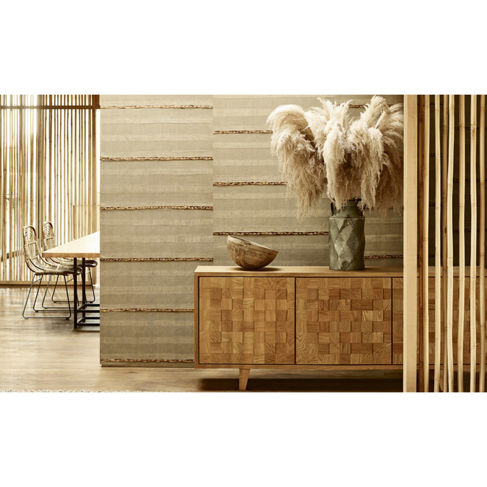 Mark Alexander Collage Handcrafted Wallcoverings | Panorama Almond