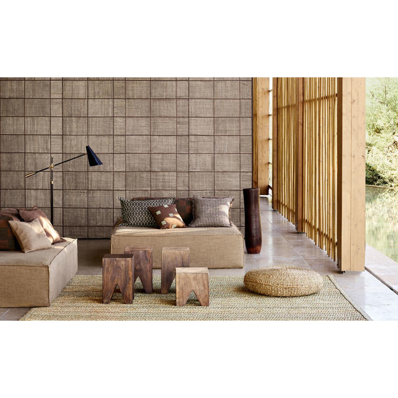 Mark Alexander Collage de revêtements muraux fabriqués à la main | Grille Naturel