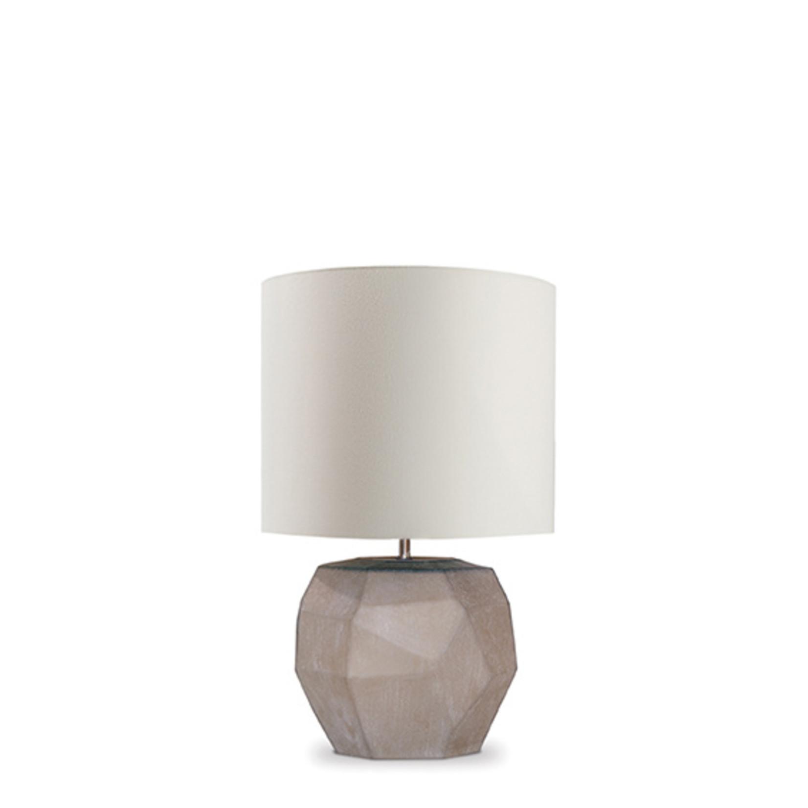 Guaxs Lampe de table cubiste ronde   Smokegrey