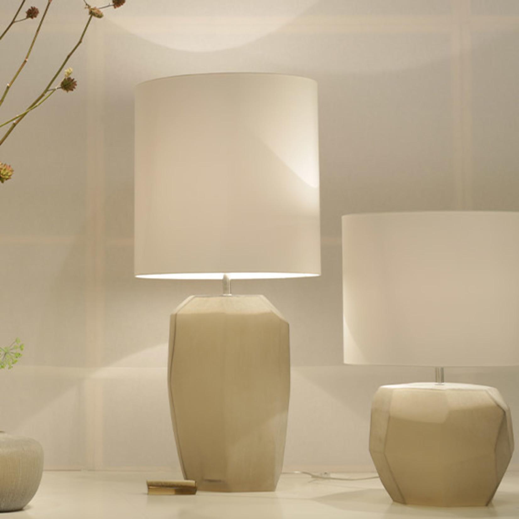 Guaxs Lampe de table cubiste ronde | Smokegrey