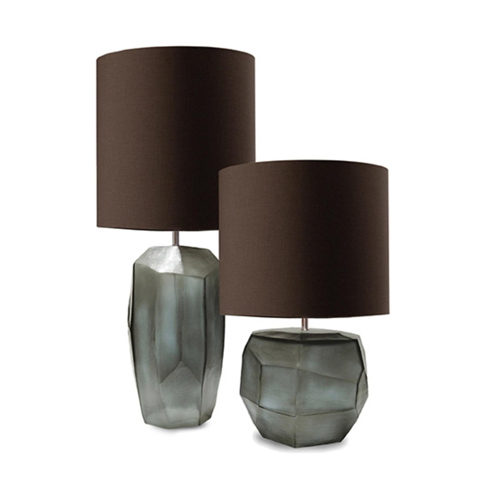 Guaxs Table lamp Cubistic Round | Indigo / Smokegrey