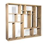 Gommaire Cabinet Saar Large | Gris authentique de teck récupéré