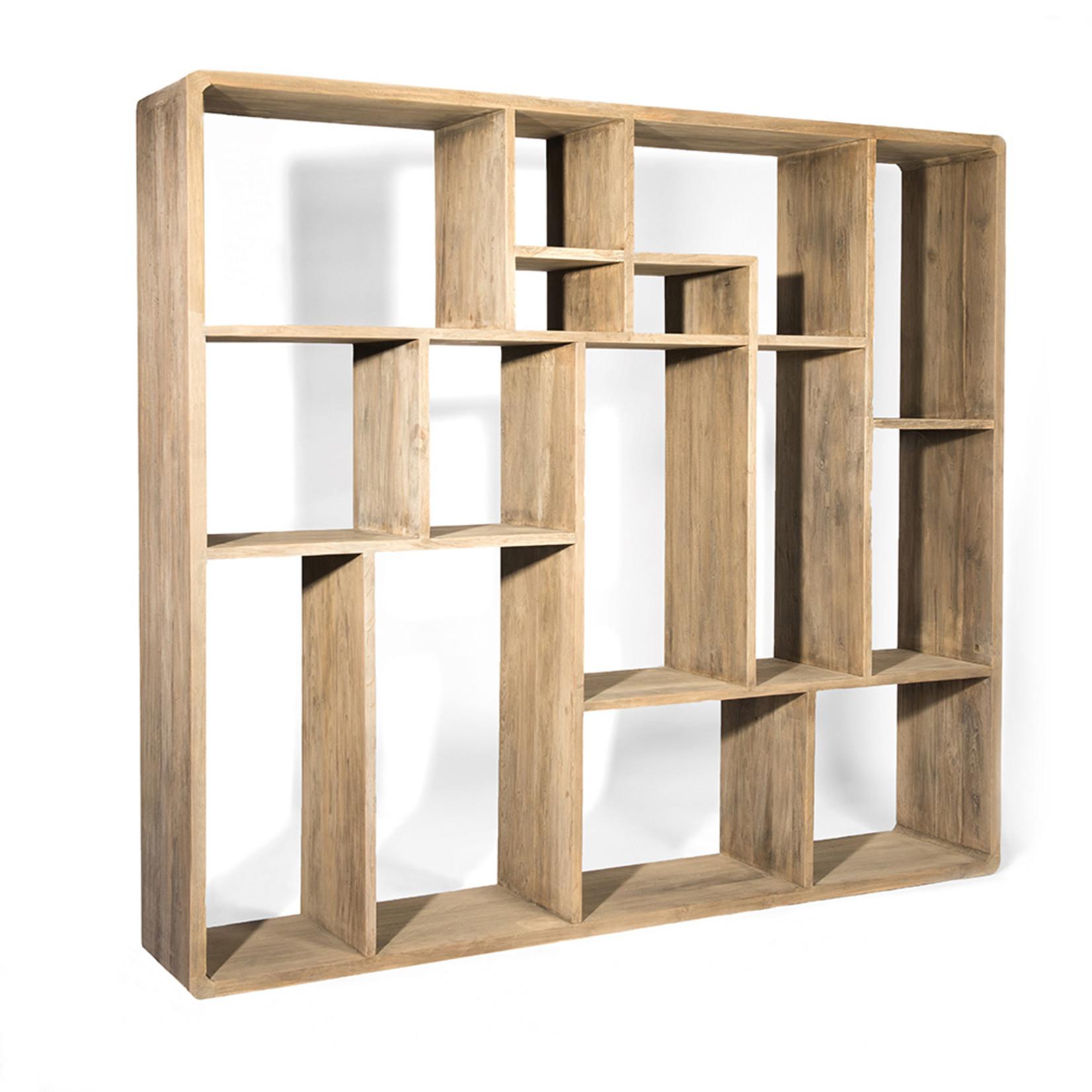 Gommaire Cabinet Saar Large | Reclaimed Teak Authentic Gray