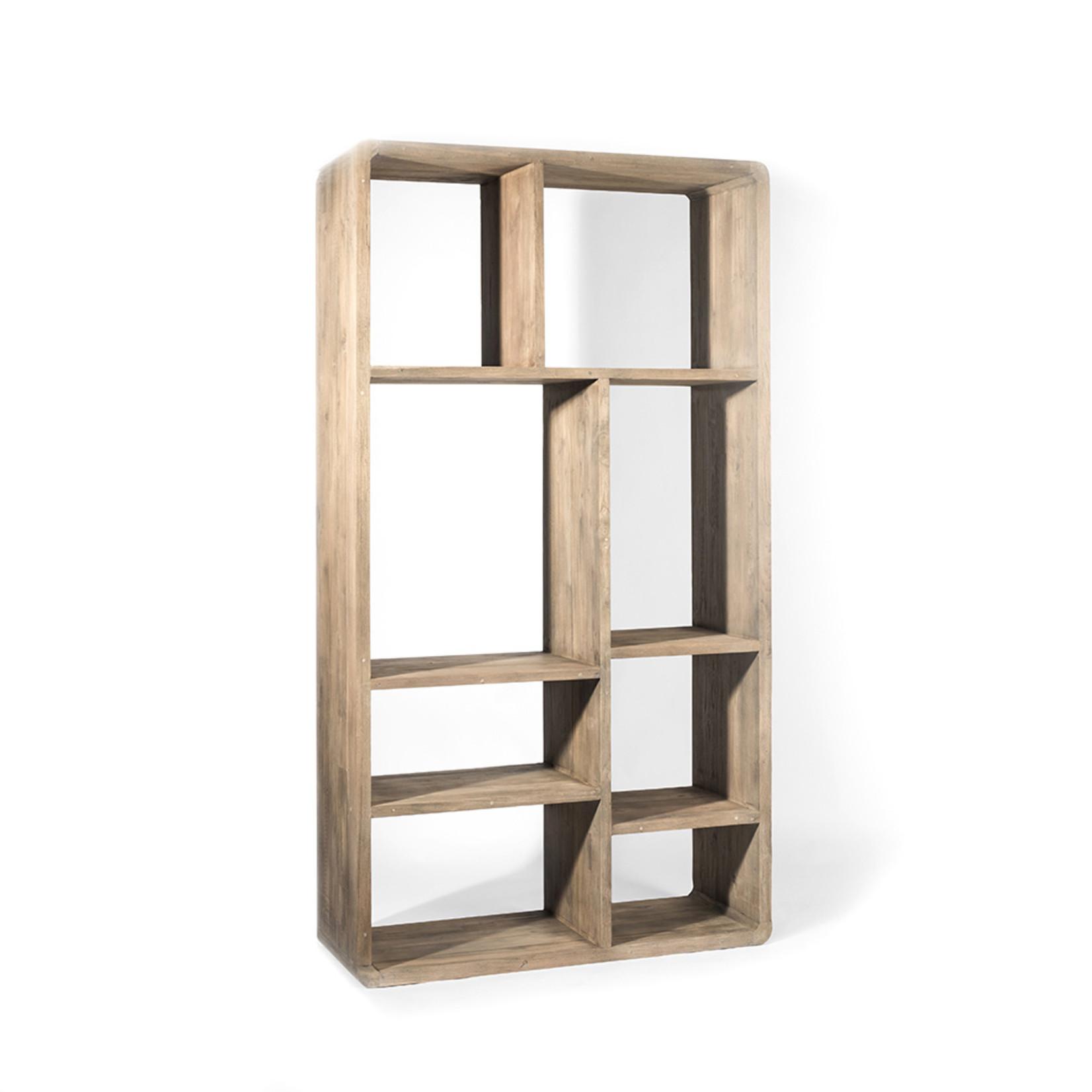 Gommaire Cabinet Saar Small | Gris authentique de teck récupéré