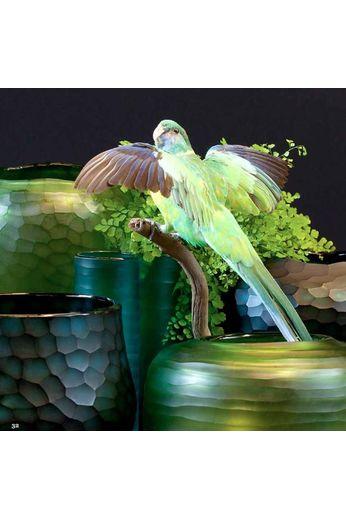 O4Home Cut vase '' Light Green ''