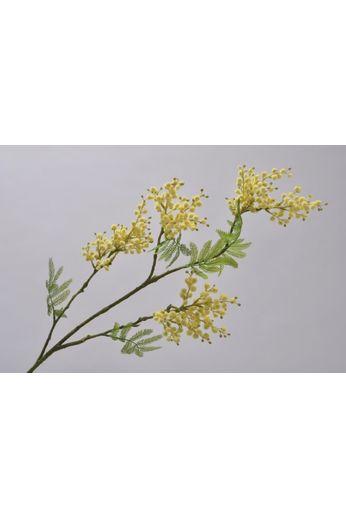 Silk-ka Mimosa tak geel / groen 95 cm