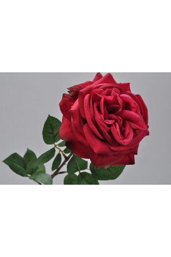Silk-ka Rose with leaf pink / red 70 cm