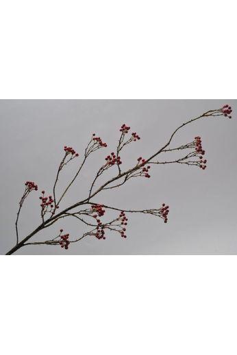 Silk-ka Branche de baies rouge 120 cm