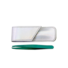 Tweezerman Emerald Eve Slant & Pouch Set