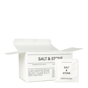 Salt & Stone Cleansing Facial Wipes - 20 Pack
