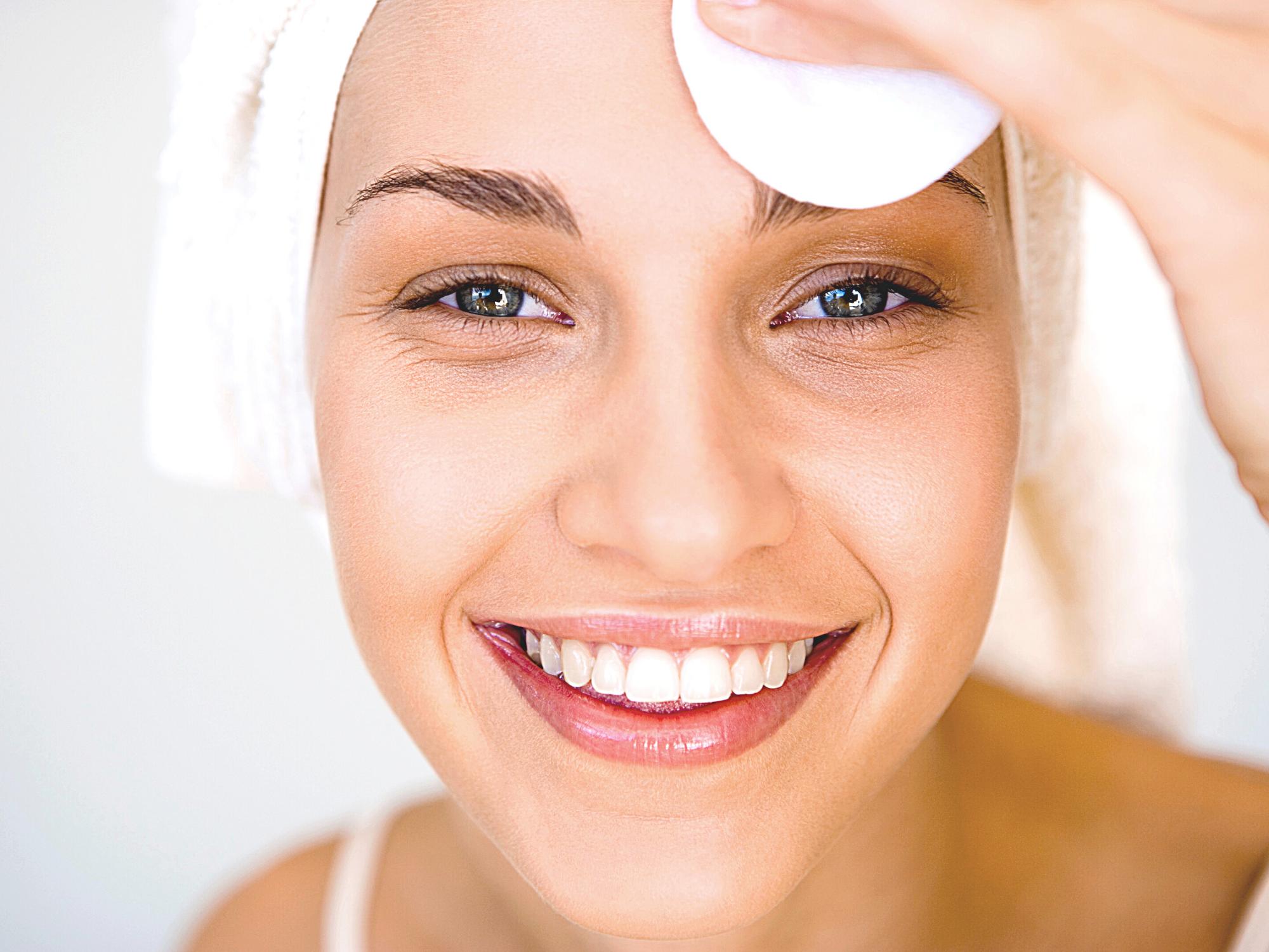 Het reinigen van de huid