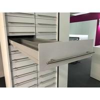 Afsluitbare H-Box apotheekkast (kolom met 14 laden)