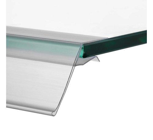 HapoH Barcode prijskaart houder voor glasplaten