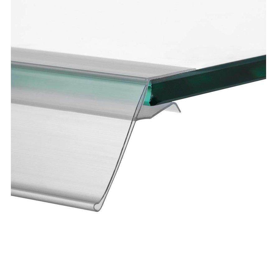 Barcode prijskaart houder voor glasplaten