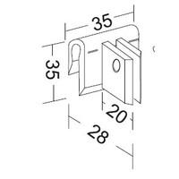 Extra lengte verdeler met clips ( plexiglas )
