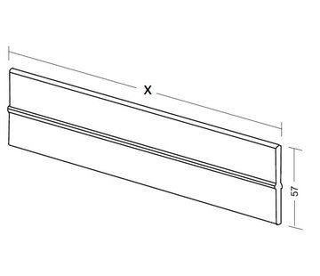 Extra length divider with clips (plexiglass, height 55mm)
