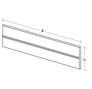 Extra lengte verdeler met clips ( plexiglas, hoogte 55mm )