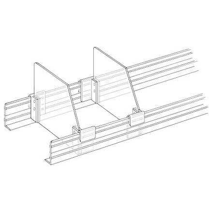 For angled shelf