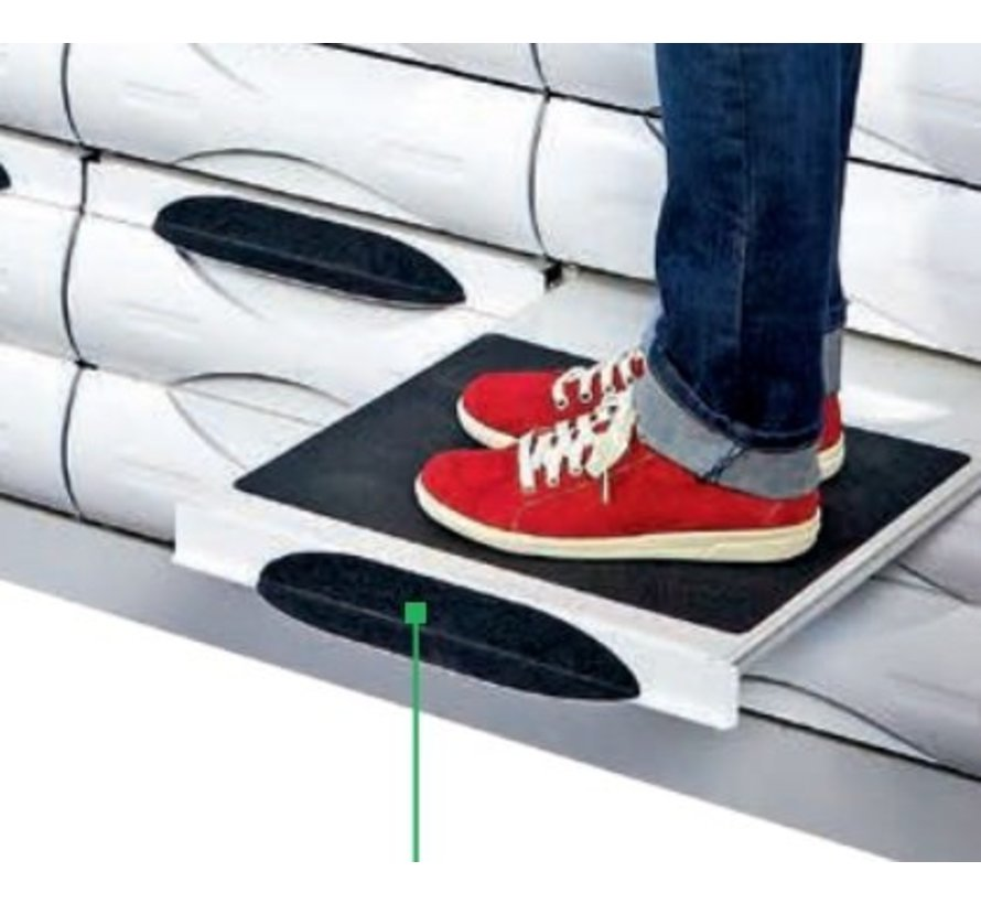 Pedal for step-by-step sliding board