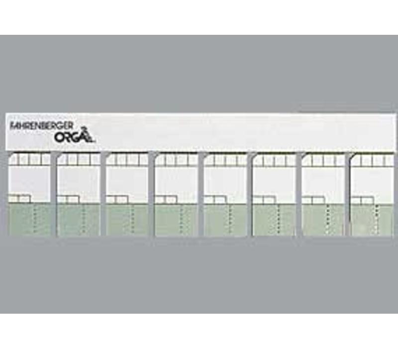 400 Minikaarten 50x25mm met kader semi gekleurd