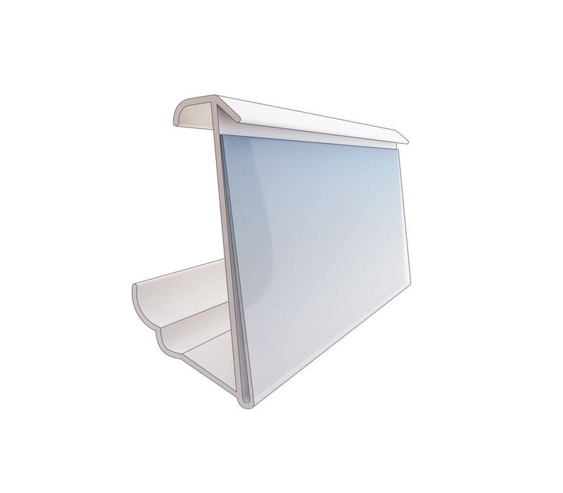 Price card holder transparent