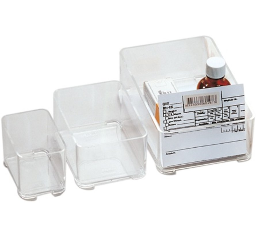 Storage Box 202 transparent, stackable