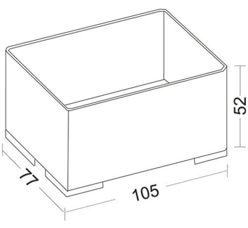 Storage Box 203 transparent, stackable