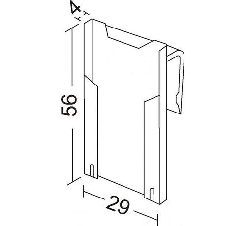 Minikaarthouder BK55/3-5